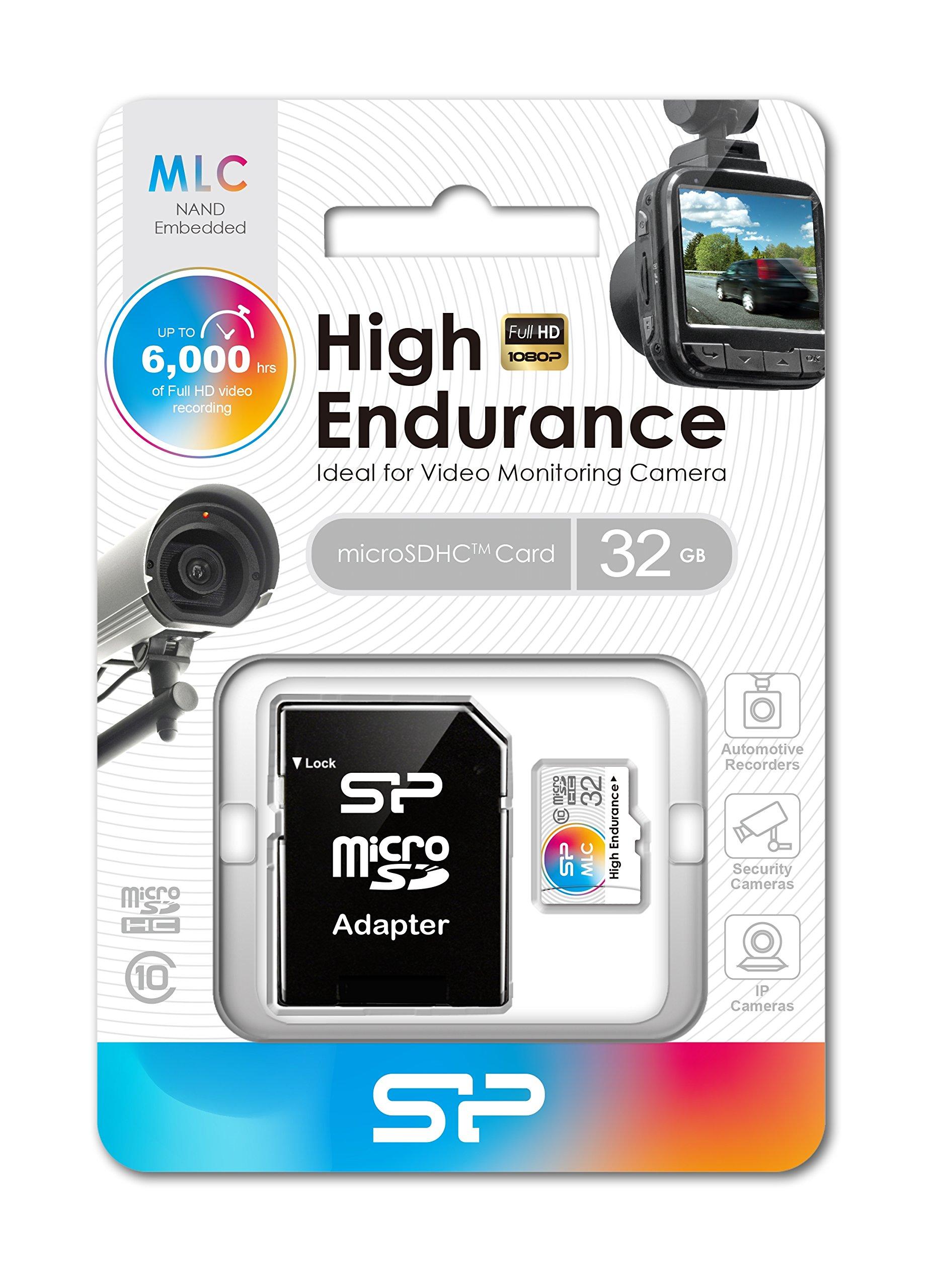 32GB Silicon Power High-Endurance microSDHC CL10 MLC Memory Card by Silicon Power (Image #2)