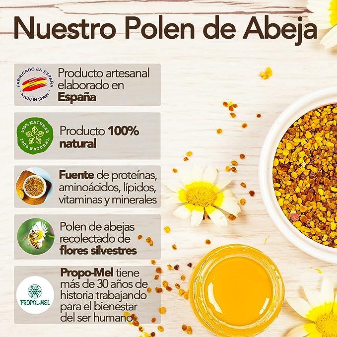 500 gramos - Polen de España (UE) 100% natural. Polen de abeja libre de residuos. Polen fuente de proteinas, aminoácidos, lípidos, vitaminas y minerales.: Amazon.es: Alimentación y bebidas