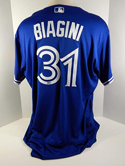 ced98c6f5 Image Unavailable. Image not available for. Color  2016 Toronto Blue Jays  Joe Biagini  31 Game Used Blue Independence Day ...