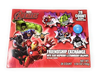 Amazon.com : Fun Character Valentines Day Card Exchange Kit ...