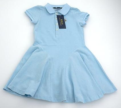 Polo Ralph Lauren Vestido Para Niña Algodón Celeste Art. S14 ...