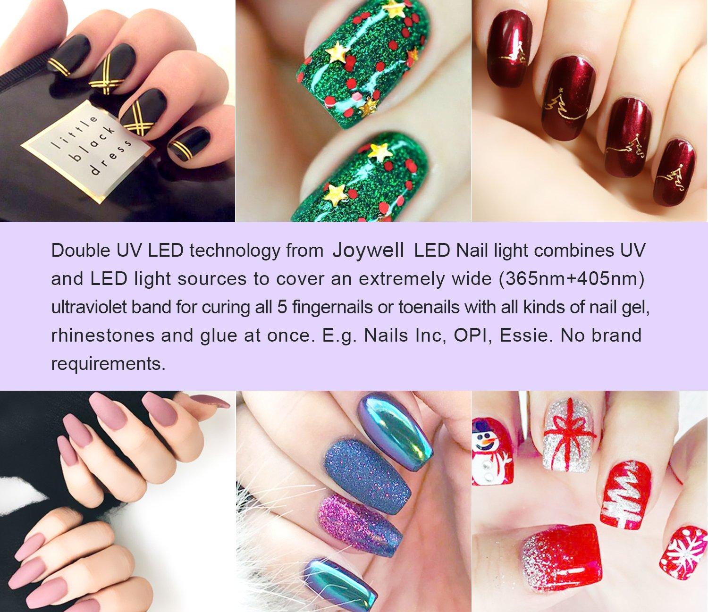 LED UV Lampe für Nägel, 48W LED-Nageltrockner mit UV Nagellampe für ...