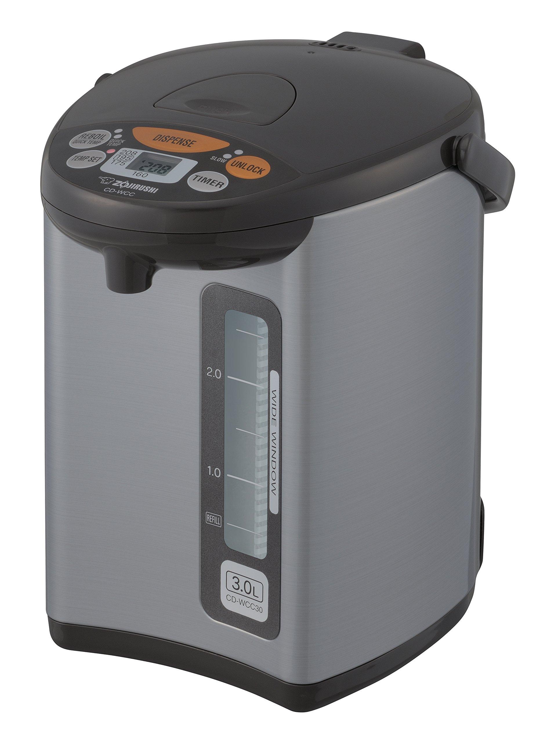 Zojirushi CD-WCC30 Micom Water Boiler & Warmer, Silver by Zojirushi (Image #1)