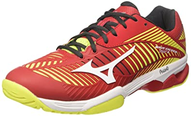 wholesale dealer e5774 2b1c5 Mizuno Wave Exceed Tour 3 AC, Chaussures de Running Homme, Multicolore  (Marsred