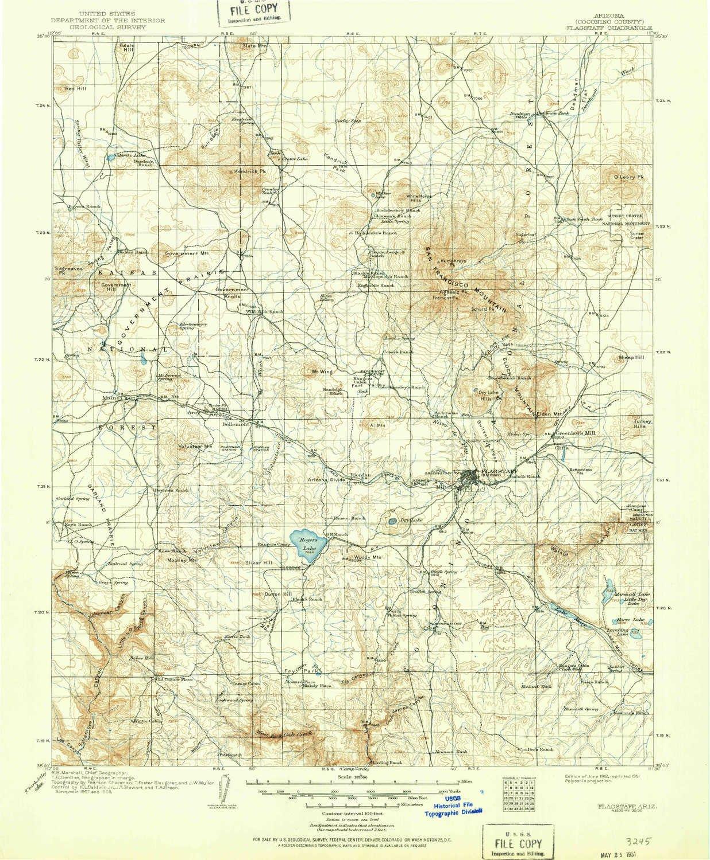 Topographic Map Arizona.Amazon Com Yellowmaps Flagstaff Az Topo Map 1 125000 Scale 30 X