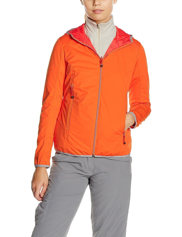 Orangeta-bitter ice S CMP Veste réversible Fix Hood lumière Softshell Primaloft ® Femme