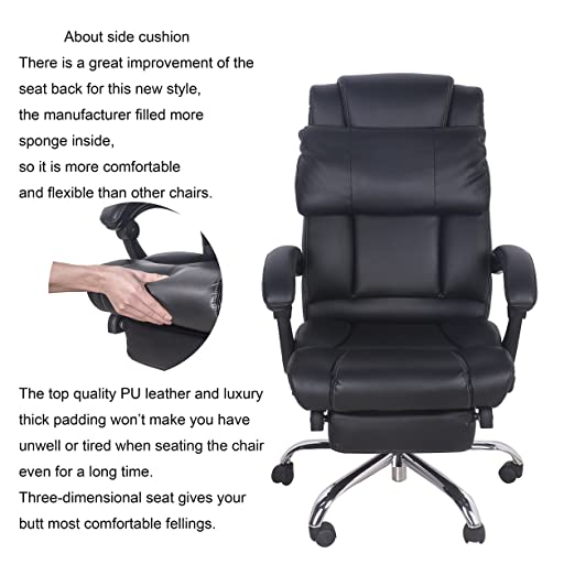 make office chair more comfortable. amazoncom merax new office lumbor support chair pu napping computer gaming high back 5 home u0026 kitchen make more comfortable