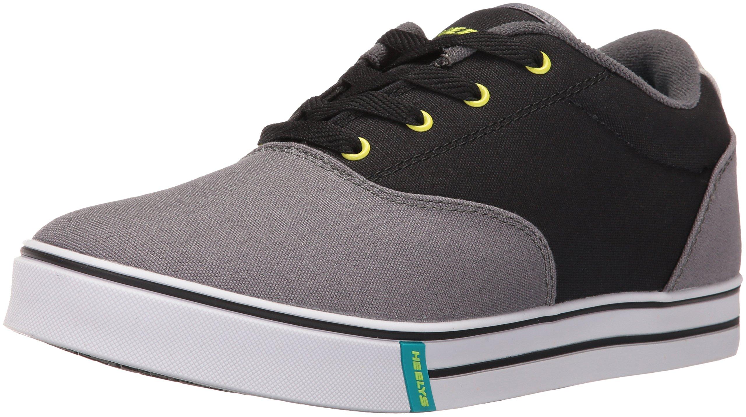 Heelys Men's Launch Fashion Sneaker Charcoal/Black/Lime 9 M US