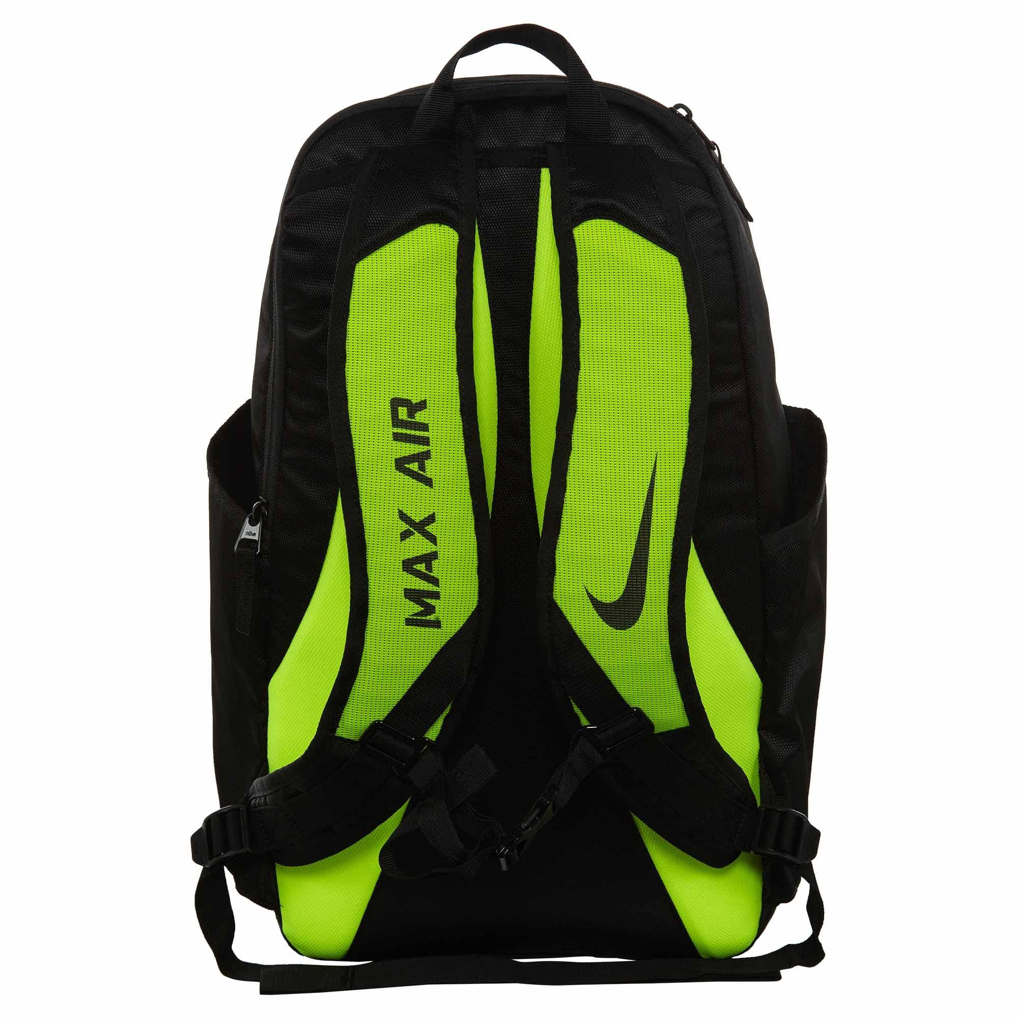 NIKE Vapor Power Training Backpack Black/Volt/Metallic Silver by NIKE (Image #3)