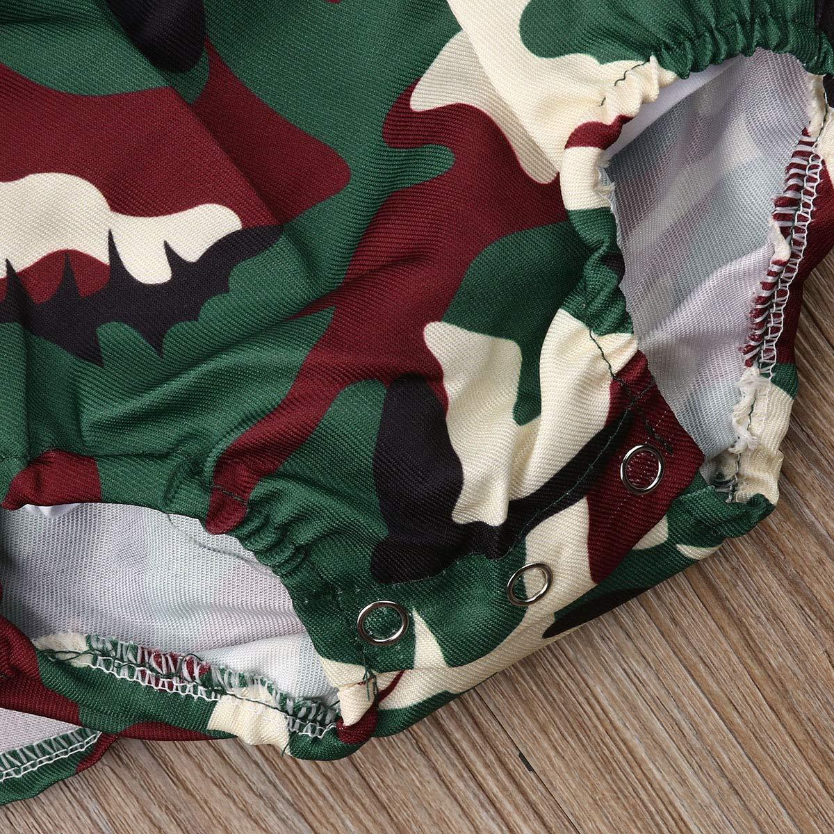 Maglia a Maniche Lunghe Vestito Mimetico da neonata GWJGOGOGOGOGOGOGO Gonna Camouflage Vestiti abbinati per Sorelle