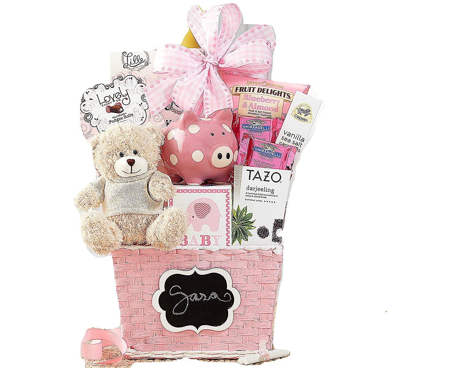 Oh Baby Pink Baby Girl Gift Basket Wine Country Gift Baskets