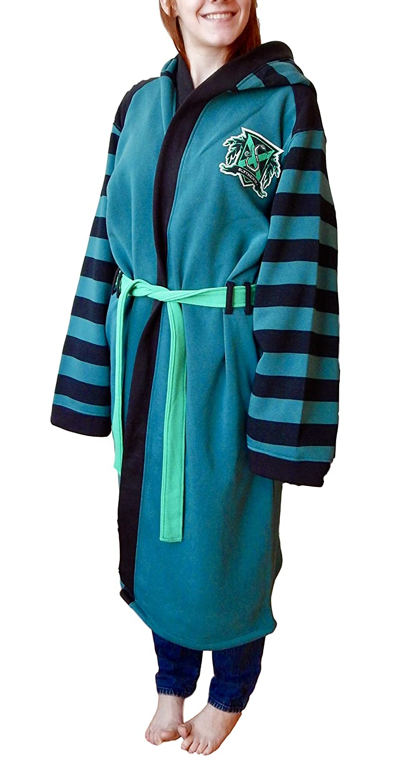 Harry Potter Slytherin Bath Robe (S/M) at Amazon Women\'s Clothing store: