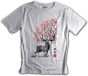 Fanisetas - Camisetas Otaku - Japon - Camiseta Samurai Sumi e: Amazon.es: Ropa y accesorios