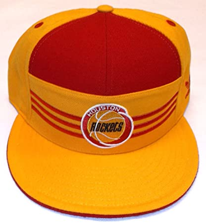 bf0ac0c555013 Image Unavailable. Image not available for. Color  NBA Houston Rockets Flat  Bill Fitted Adidas Hat ...