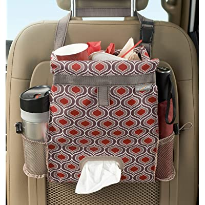 High Road Puff'nStuff Car Trash Bag and Seat Back Organizer with Tissue Holder (Sahara): Automotive
