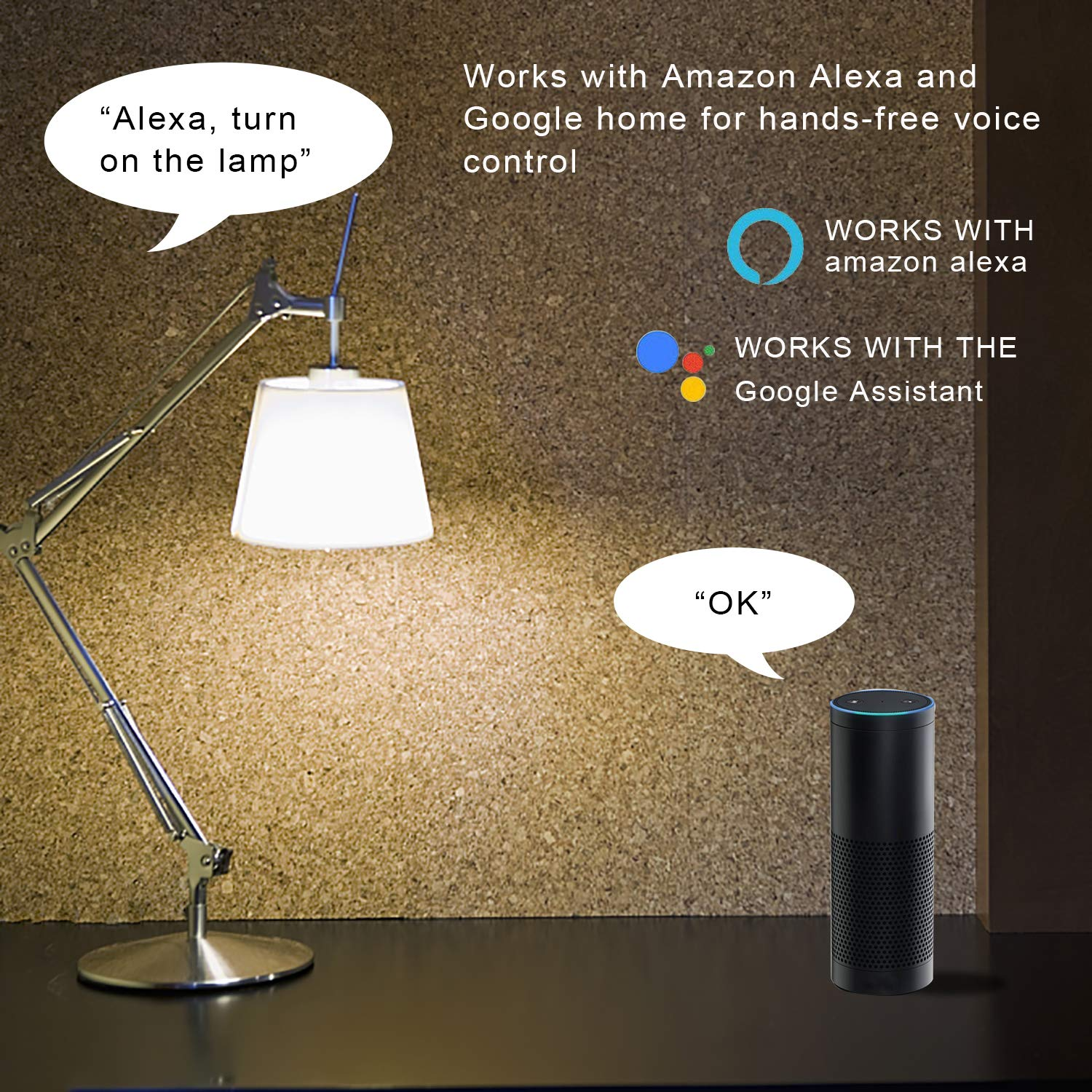 Voice /& Remote Control /Jules V Wireless Plug for Household Appliances with energy Monitoring Wi-Fi Smart Plug Outlet Socket/ Works with Alexa//Google Assistant//ifttt