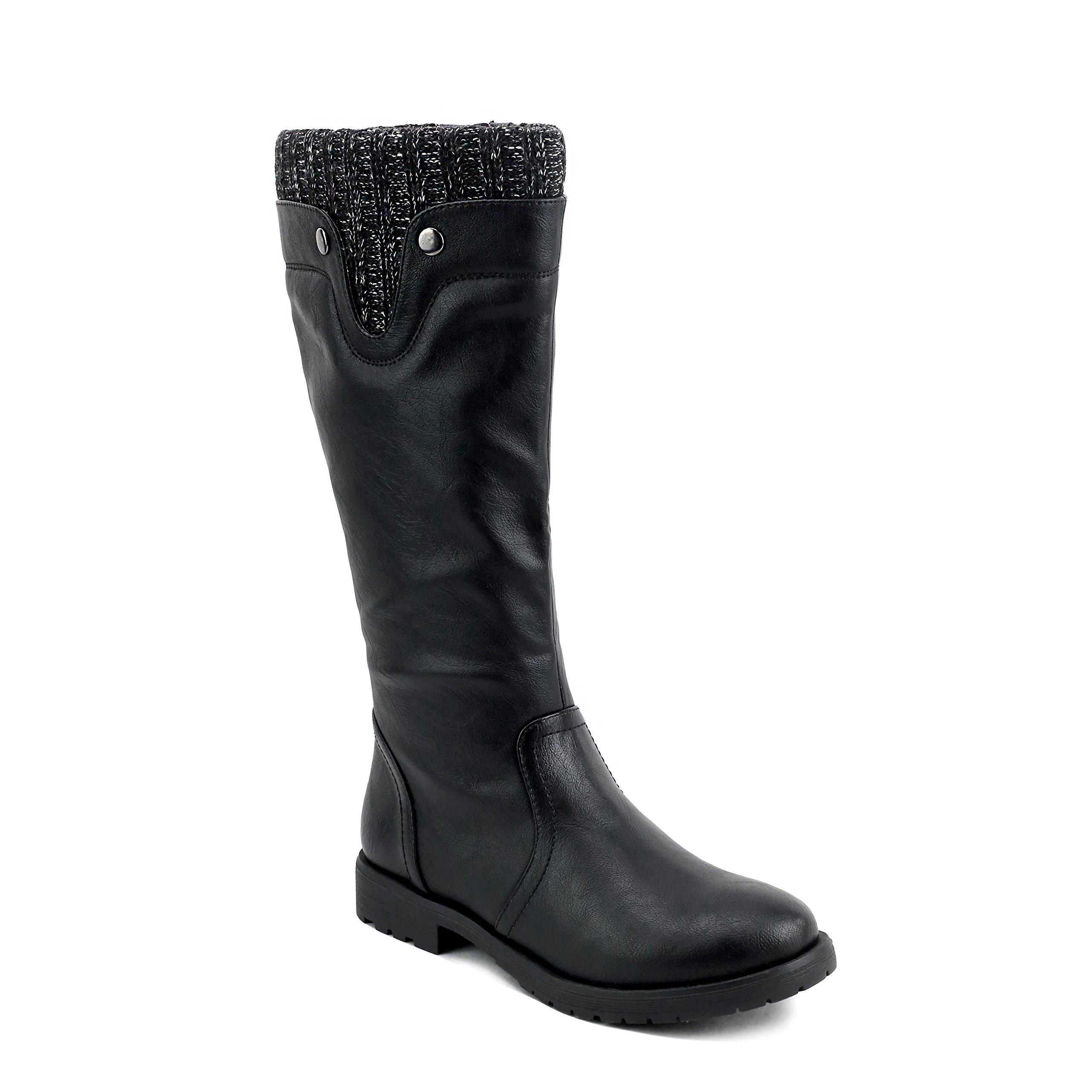 Olivia Miller 'Lenox' Black Sweater top Riding Boots 7 B(M) US