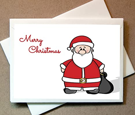 personalized christmas cards santa claus personalized 30 cards with blank matching envelopes - Amazon Christmas Cards