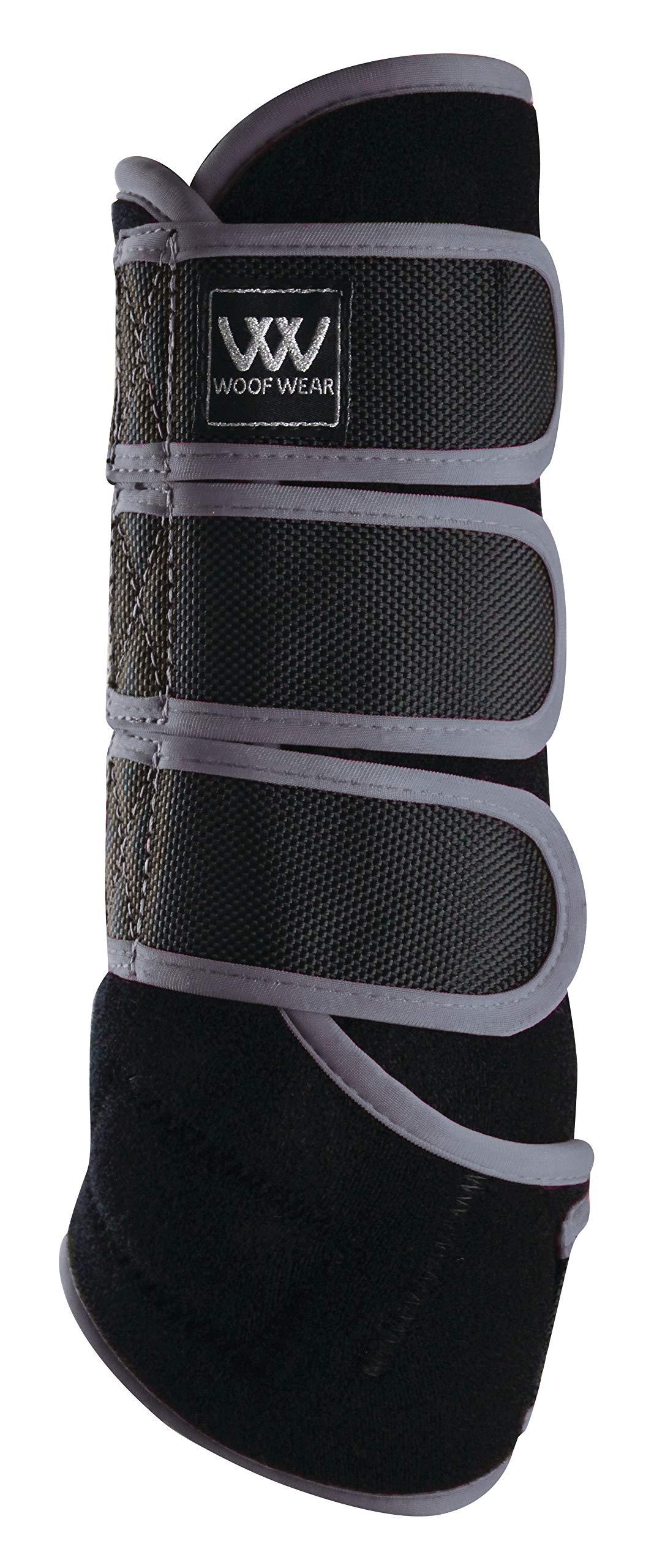 WOOF WEAR Dressage Exercise Wrap Medium Black Brushed Steel