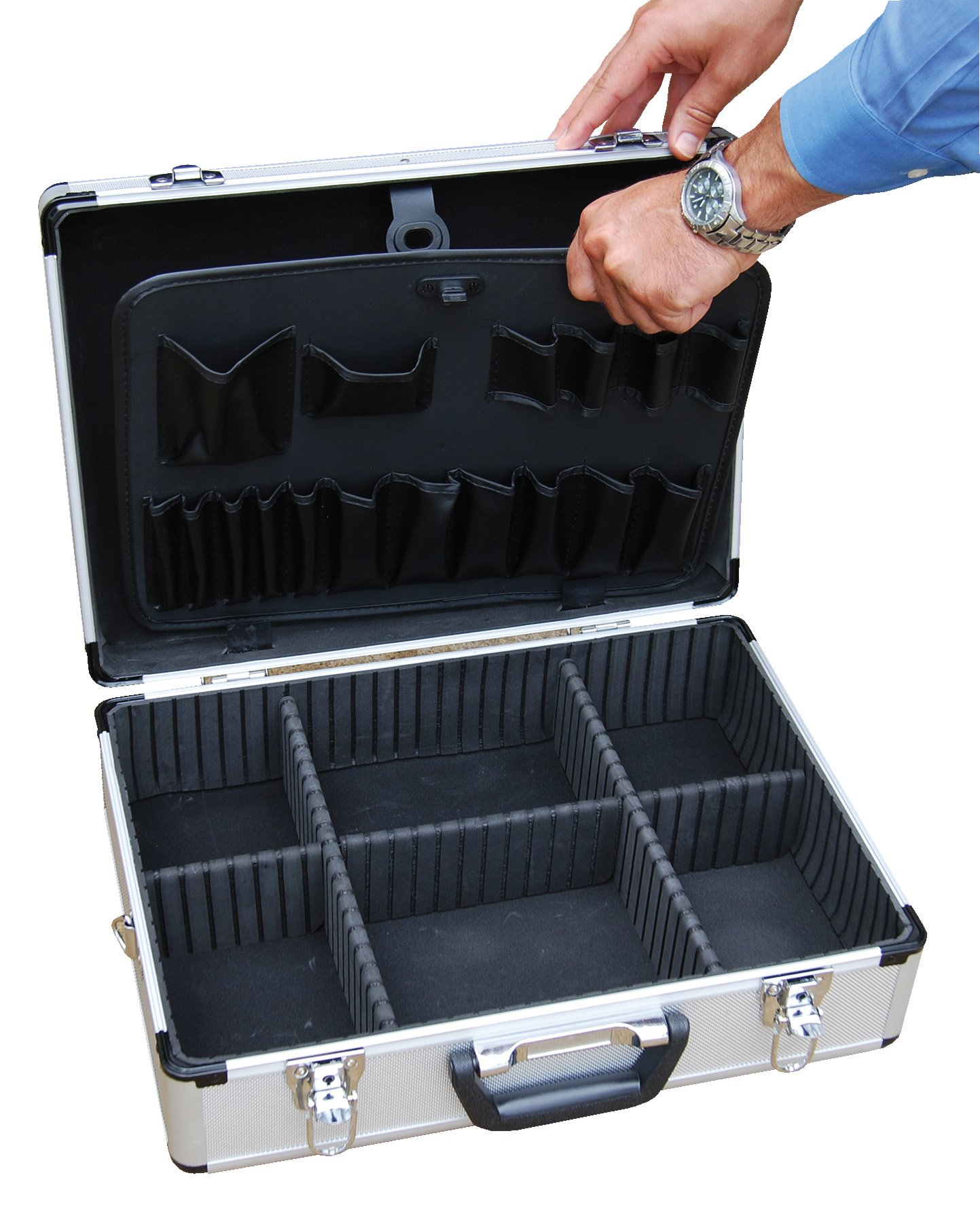 Vestil CASE-1814 Rugged Textured Carrying Case with Rounded Corners. 18'' Length, 14'' Width, 6'' Height by Vestil (Image #3)