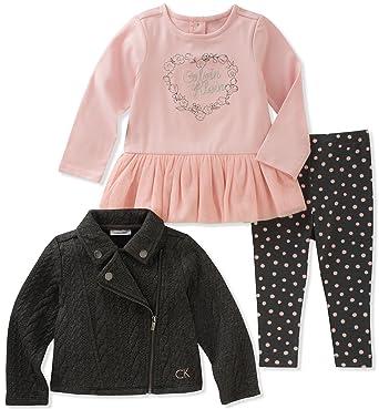6d377bf63a85 Calvin Klein Baby Girls  3 Pc Jacket Sets