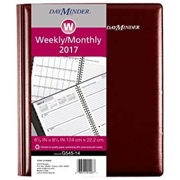 amazon com dayminder weekly monthly planner 2017 executive 6 7