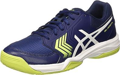 Asics Gel-Dedicate 5, Zapatillas de Gimnasia para Hombre, Azul (Indigo Blue/White/Safety Yellow), 46 EU: Amazon.es: Zapatos y complementos
