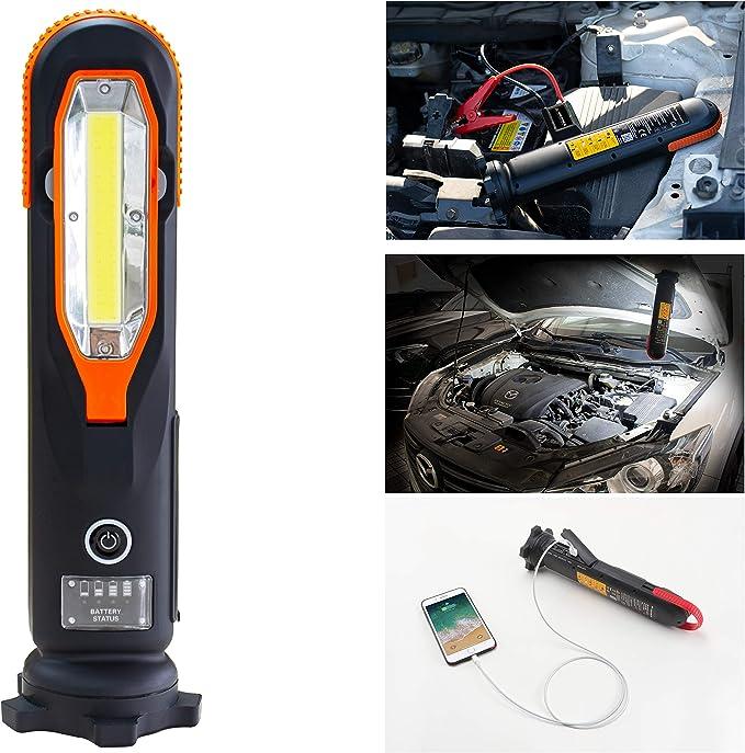 Yard Force Lithium Autobatterie Starthilfe Pack Lx Js12 12000 Mah Mit Led Taschenlampe Tragbarer Powerbank Starthilfe Für Notfälle Für Bis Zu 5 Liter Benzin Und 4 Liter Dieselmotoren Auto