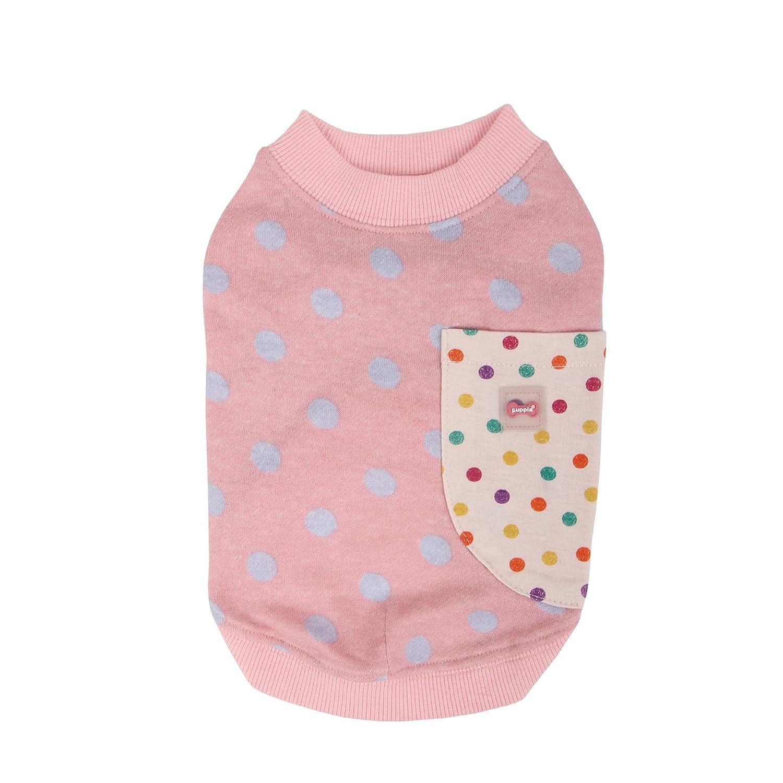 PUPPIA Authentic Eccentric Round Neck Pet Shirt, Small, Pink