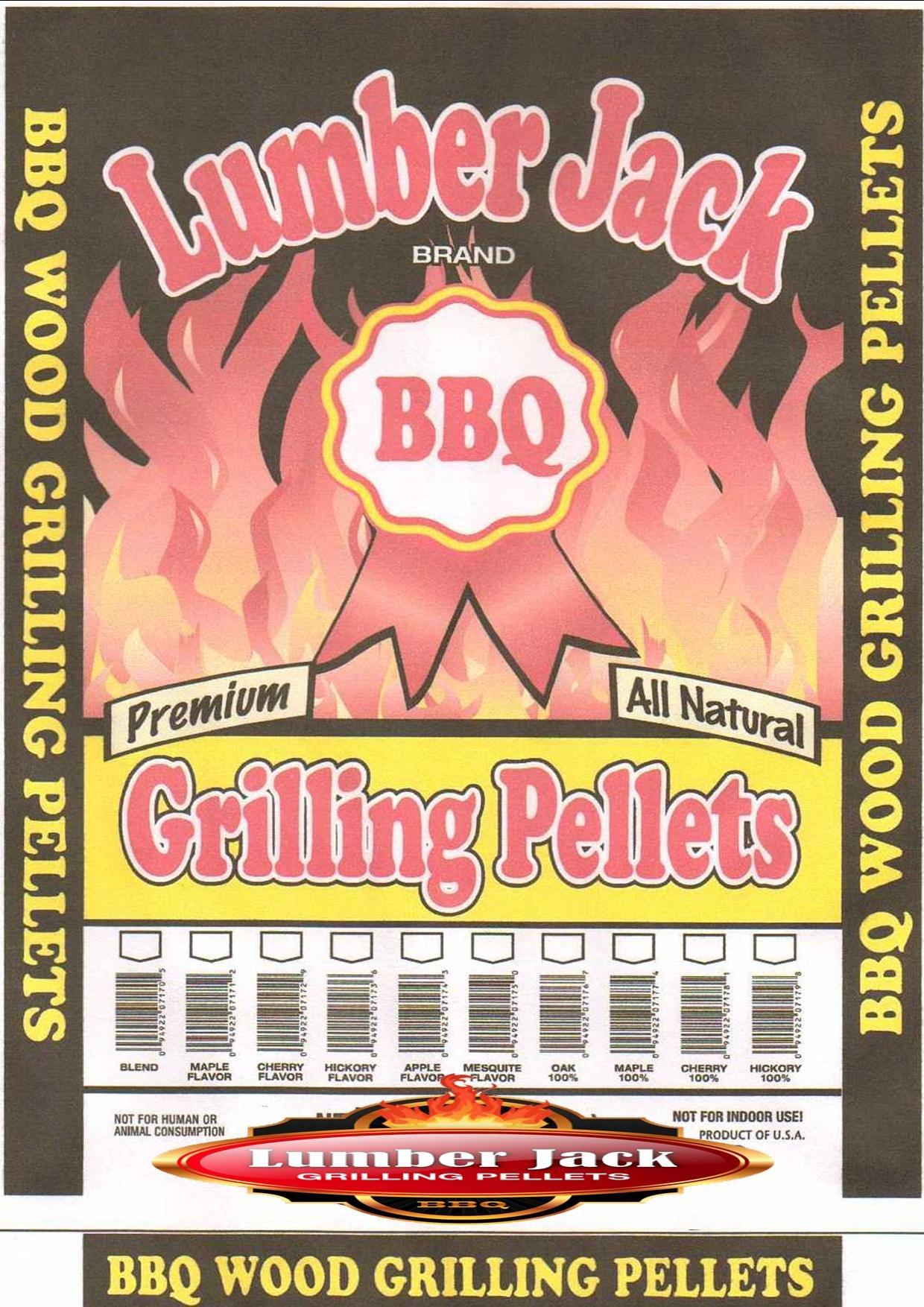 Lumber Jack 100-Percent Hickory Wood BBQ Grilling Pellets, 20-Pound Bag