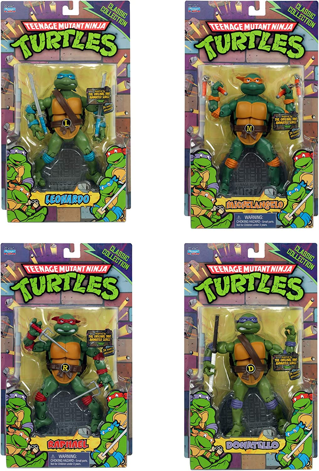 Teenage Mutant Ninja Turtles TMNT Classic Collection Figure 4pc Set