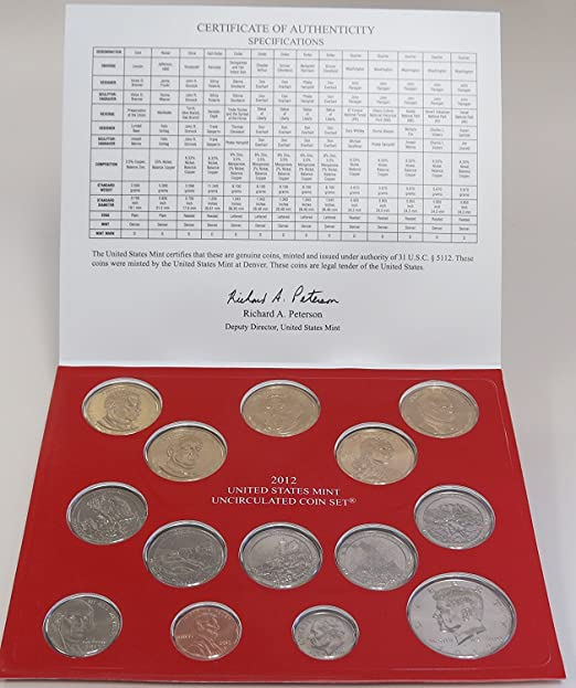 28 Coins MS10-50 2012 P and D Uncirculated Coin Set Mint Set