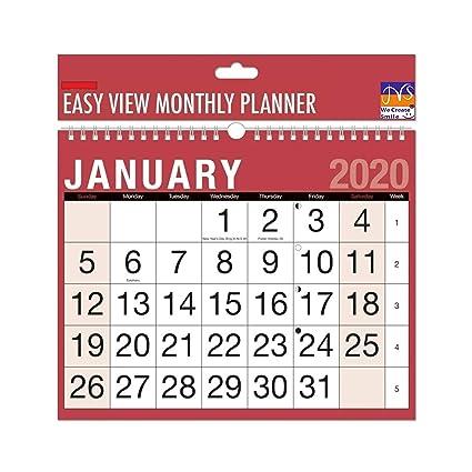 Planificador de pared 2020, fácil de encuadernar en espiral ...