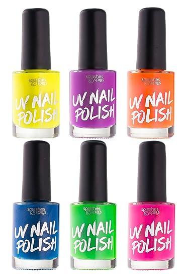 Amazon Com Uv Glow Blacklight Nail Polish 6 Color Variety Pack