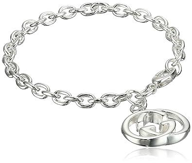 ed392719a7a7 Gucci Women s Silver Britt Bracelet Silver 18 cm (7 in)  Amazon.co ...