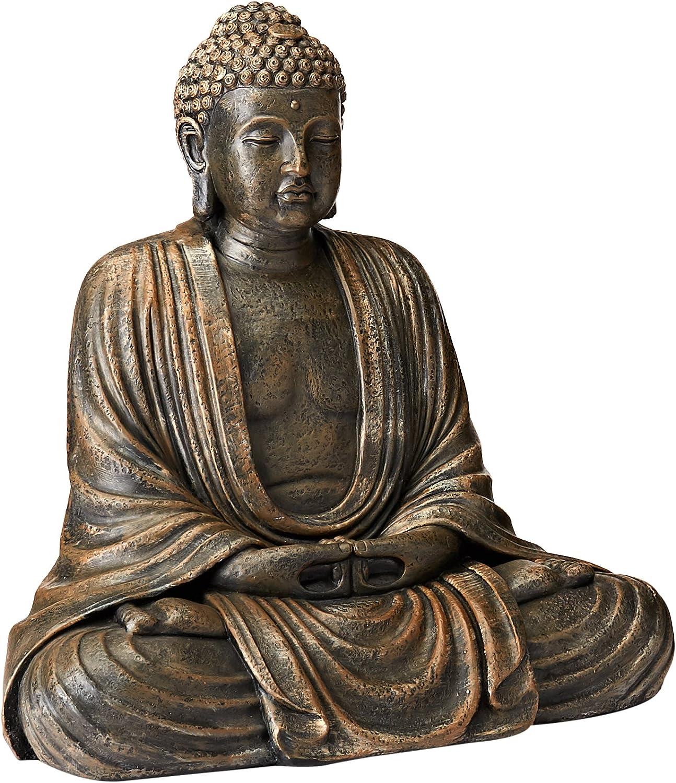 Oriental Furniture Tall Japanese Sitting Buddha Statue 2 1 2 Feet Amazon Ca Home Kitchen