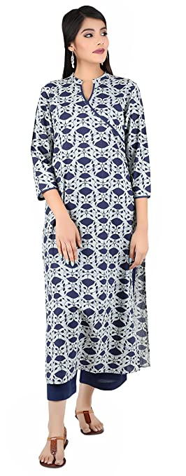 ANAYNA Women's Straight Kurta Kurtas & Kurtis at amazon