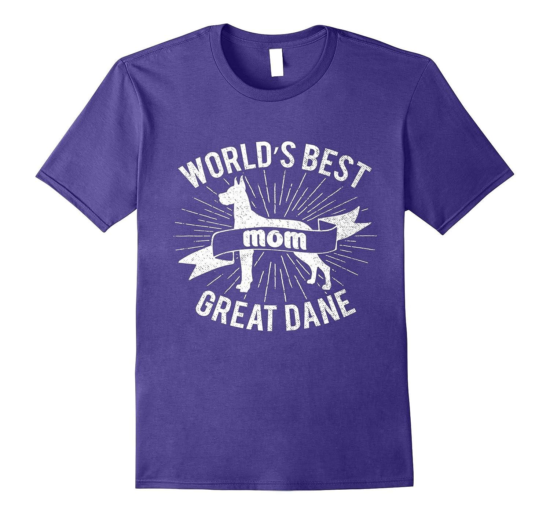 Worlds Best Great Dane Mom T-Shirt Clothing Gift Stuff Dog-Art