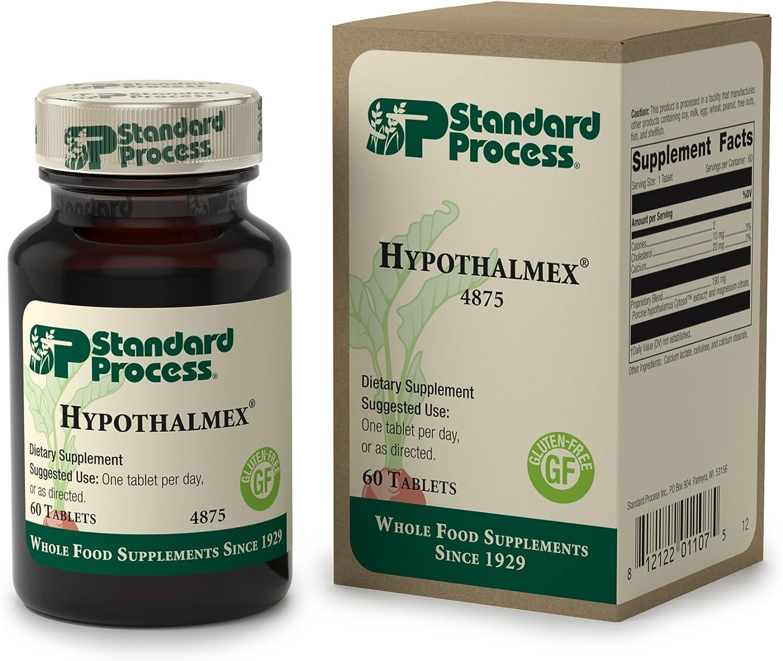 Standard Process – Hypothalmex – Hypothalamus Gland Health Support Supplement, 20 mg Calcium, Gluten Free – 60 Tablets