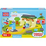 Mega Bloks Toy - Junior Builders - Thomas and Friends - Fun at Tidmouth Sheds - 100 Piece Playset