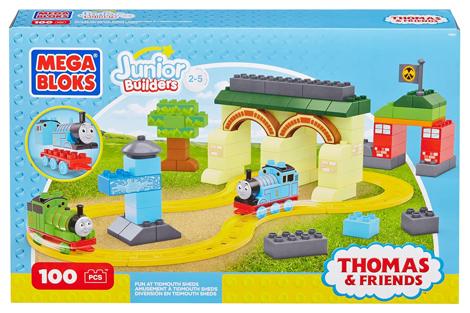 Amazon.com: Mega bloks Thomas & Friends Fun at Tidmouth Sheds: Toys ...