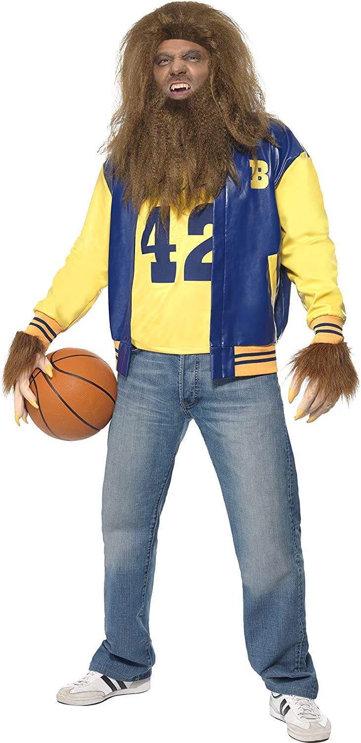 Teen Wolf Movie Costume. I really miss the Michael J. Fox films of the 80s. Now you can relive one of them in this authentic outfit. Includes : Jacket, Vest, Gloves, Wig and Beard.