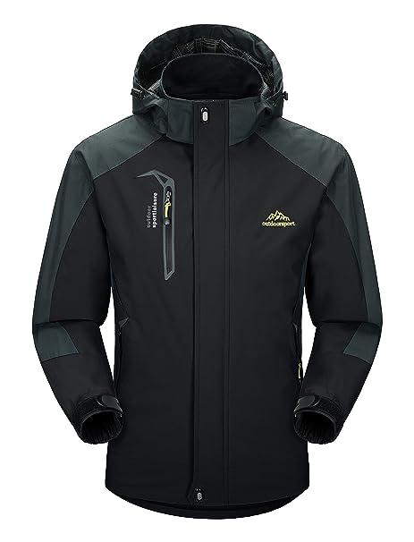 MAGCOMSEN Mens Windbreaker Jacket Winter Jacket Coat Windproof Skiing  Jacket Softshell S 12c37c642