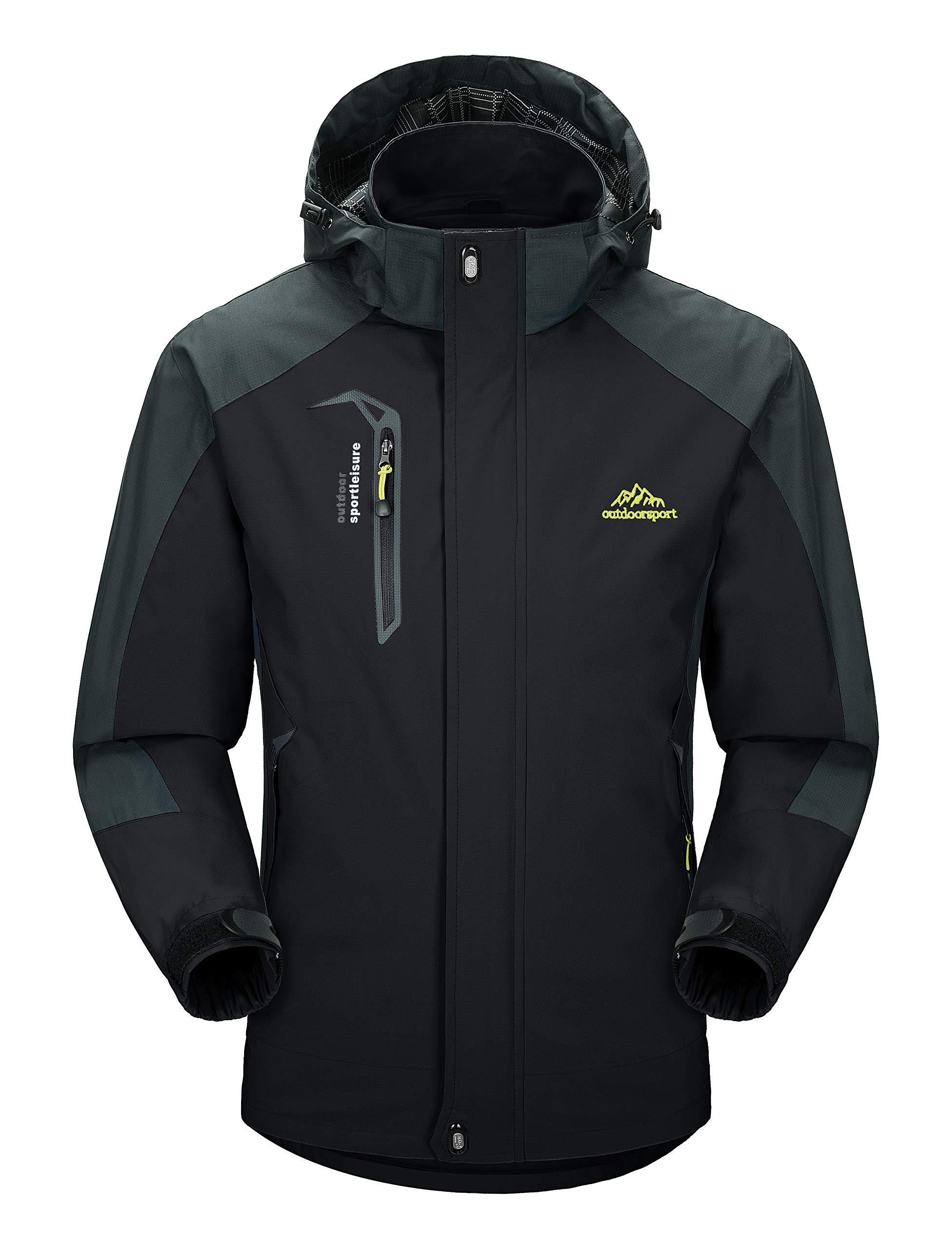 MAGCOMSEN Outdoor Men Jacket Waterproof Raincoat Hooded AutumnJackets for Men XL