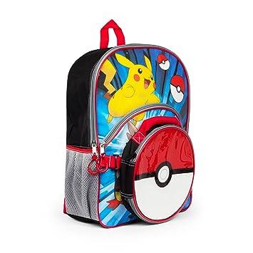 Pokemon 16 pulgadas Mochila con aislamiento Pokeball fiambrera bolsa para el almuerzo - niños: Amazon.es: Hogar