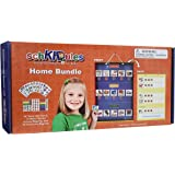 """SchKIDules Visual Schedule for Kids Home Bundle: Daily Calendar and Weekly Progress Chart w/18"""" Reversible Folding Board & 12"""