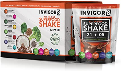 Amazon.com: INVIGOR8 Superfood Shake Gluten-Free and Non GMO ...