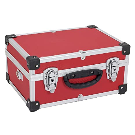 Kofferset Werkzeugkoffer Aluminium Rot Schwarz Blau Kiste Transport Universal