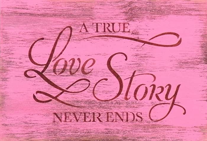 Amazon.com: Hand Painted A True Love Story Never Ends 8x11 ...