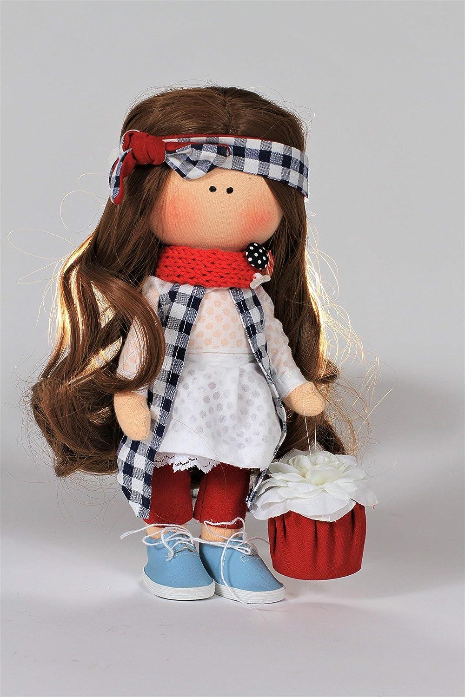 Handmade fabric doll